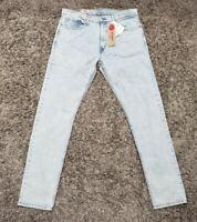 Levis 512 Men Sz 36W 34L Blue Jeans Casual Slim Taper Fit Denim Pants Light Wash