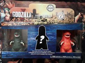 Godzilla Funko Mystery Mini 3 Pack Vinyl Figure Set Exclusive