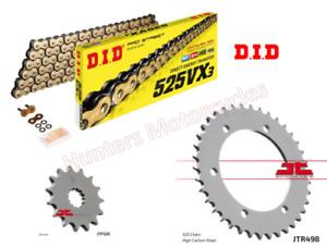 Suzuki GSXR750 Srad (1998 & 1999) DID Gold X-Ring Chain and JT Sprocket Kit Set
