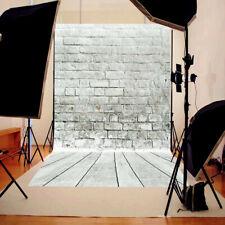 2.1x1.5m Fotohintergrund Hintergrund Stoff Fotostudio Ziegel Holzfussboden Boden