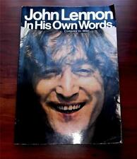 John Lennon In His Own Words  The Beatles  1981  Quick Fox  10 x 7  Paperback