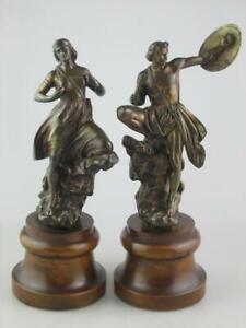 Rare Antique 19th Century Bronze Sculpture of Warriors Circa 1870