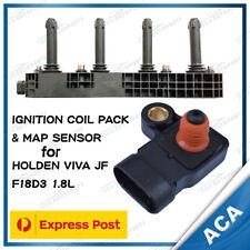 IGNITION COIL PACK & MAP SENSOR FIT HOLDEN VIVA JF F18D3 1.8L 4CYL DOHC 96415010