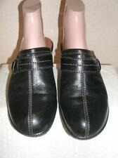 Sofft Black Leather Mules Slides Clogs  Shoes Shoe Size 7..5  M
