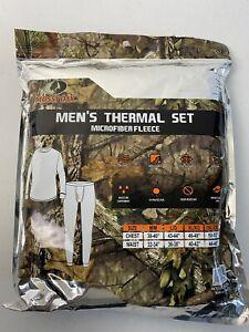MOSSY OAK Mens Microfleece Thermal Set Size L ...Black
