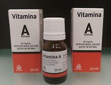 Vitamina A retinolo 10ml 2 CONFEZIONI vitamina anti rughe anti età anti acne!
