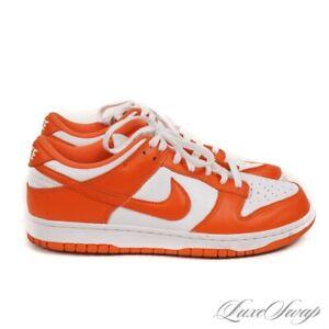 LNWOB Nike Dunk Low Retro SP CU1726-101 Orange White Syracuse Sneakers 8.5 NR