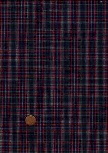 100% Cotton Fabric Small Tartan Green Navy Blue Red White  Patchwork Craft