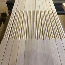 20 Oak stair spindles, our Fluted stop-chamfered style 41x900mm