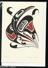 New • DANNY DENNIS • ART CARD Totem RAVEN inspired Haida design art