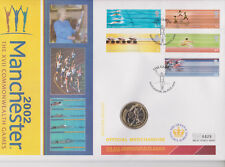 QEII MERCURY PNC COVER 2002 COMMONWEALTH GAMES 1 X £2 COIN B/UNC