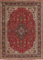Vintage Traditional Geometric Oriental Area Rug Wool Hand-Knotted Carpet 8x11