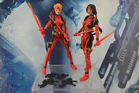 "Marvel Legends Custom Action Figure Lot Weapons 6"" Deadpool Assassins Female"