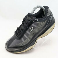 Skechers Shape Ups SRR Womens Size 7 Black Silver Toning Running Sneakers Shoes
