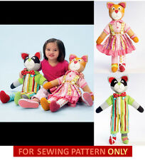Sewing Pattern! Make Dress Up Toys! Raccoon~Cat! Learn To Zip~Button~Tie~Snap!