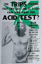 Acid Test Poster 1966 Trips Festival San Francisco Allen Ginsberg Grateful Dead