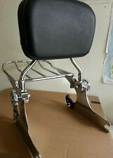 Detachable Backrest Sissy Bar Luggage rack Harley Davidson Softail 200mm 06 UP