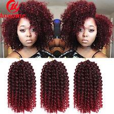 8'' Mali Bob Curly Crochet Twist Braiding Hair Synthetic Braid 3pcs/pack T1B/BUG