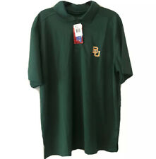 X-Large J America NCAA Baylor Bears Mens Linebacker Ii YB Dyed Color Bock Polo Shirt Charcoal//Green