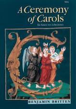 BRITTEN CEREMONY OF CAROLS ssa*
