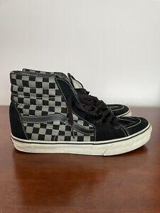 Vans Sk8-Hi Core Classics Color Black, Pewter Checkerboard Men's Size 11 No Box