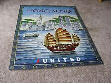 UNITED AIRLINES HONG KONG TRAVEL POSTER TIM ZELTNER ORIGINAL UAL ISSUE 2001 NEW