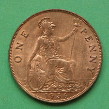 1936 George V Penny UNC Uncirculated Good lustre cover SNo15238