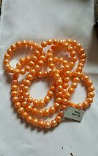 "40"" Orange Freshwater Cultured pearl Necklaces with certificate"