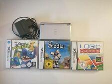 Nintendo DS Lite Silber inkl Ladekabel guter Zustand + 3 Spiele *getestet*