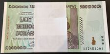 100 x ZIMBABWE 50 TRILLION DOLLARS p90 - GENUINE uncirculated - SPECIAL PRICE