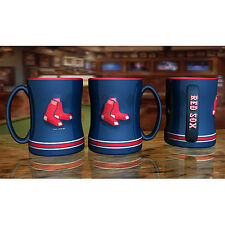 Boston Red Sox Coffee Mug Relief Sculpted Team Color Logo - 14 oz NEW Blue