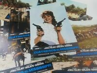DIE FLUBPIRATEN VON MISSISSIPPI GERMAN  WESTERN LOBBY CARDS COMPLETE SET SPAIN