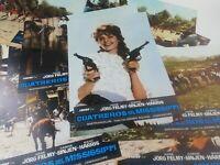 DIE FLUBPIRATEN VON MISSISSIPPI GERMAN  WESTERN LOBBY CARDS COMPLETE SET SPAIN