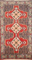 Geometric Traditional Bidjar Hand-knotted Area Rug Wool Oriental Carpet 2x4 RED