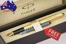 PARKER Sonnet luxury Golden Fountain Pen gift Box+Extra Refill