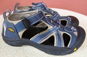KEEN Youth US Sz 2, EU 34, Blue/Taupe Waterproof Washable Sandals 1006628 NWOB