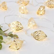 1.5m Gold Vine LED Wedding Table Lights Fairy String Lights Garland Decorations