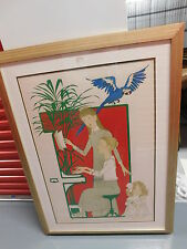 """Philippe Noyer, """"Piano Lesson"""",signed ltd edition print, professionally framed"""