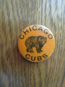 """Old Vintage 1940's Chicago Cubs Pin-1&1/4"""""""