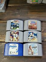 Lot of 6 Nintendo 64 N64 Games Sports Madden NBA MLB Nascar NFL Club 2000 2001
