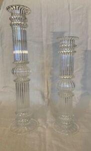 Glass Pillar Candlesticks