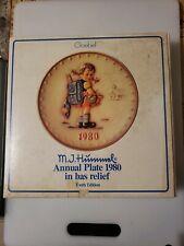 "Hummel Goebel 7 1/2"" Annual Plate 1980 in Original Box"
