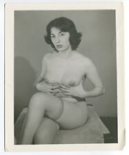 Sexy Female Amazing Huge Puffy Nipples 1950 Original Nude Pinup Photo  B5169