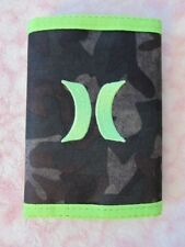 Hurley Honor Roll Tri-Fold Wallet Camo / Voltage Green - New