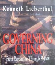 Governing China by Kenneth Lieberthal, signed, hardcover, 1995