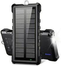 Portable Solar Charger, 24000mAh Solar Power Bank Panel Charger with...