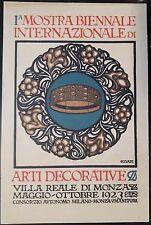 1923 - Monza - I Mostra Biennale Arti decorative. Firmata Cisari