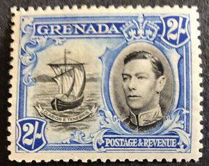 Grenada George VI 2/- Definitive SG161 Perf 12 1/2 Mounted Mint