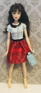 Barbie Asian Doll With Clothes Shoes Red White Dress B1