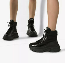 $1,150 AUTH SOLD OUT NEW PRADA COMBAT MONOLITH BLOCK ANKLE BOOTS SNEAKERS SZ 39